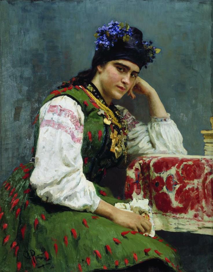 Портрет дочери генерала М И Драгомирова Софья 1889